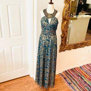 CACHET MAXI SEQUINED DRESS